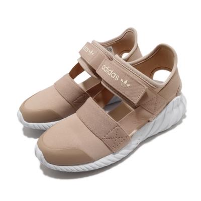 adidas 涼拖鞋 Doom Sandal C 童鞋 愛迪達 三葉草 魔鬼氈 輕便 外出 中童 藕粉 FV7599