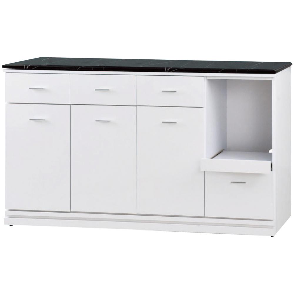 綠活居 尼爾森時尚5尺雲紋石面餐櫃/收納櫃(二色)-151x46x83cm免組