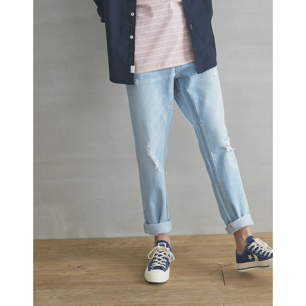 CACO-經典直筒牛仔長褲(兩色)-男【SPA079】