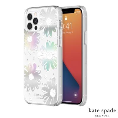 Kate Spade Daisy Iridescent iPhone 12/12 Pro 彩虹雛菊+白色鑲鑽保護殼