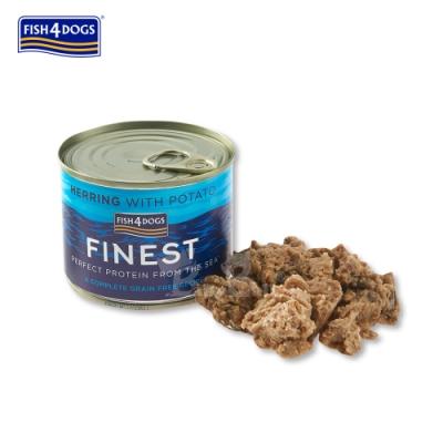 海洋之星FISH4DOGS 挪威鯡魚主食犬罐185g  2罐裝