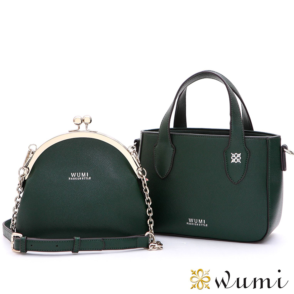 WuMi 無米 蘇菲雅鍊帶子母包 森林綠
