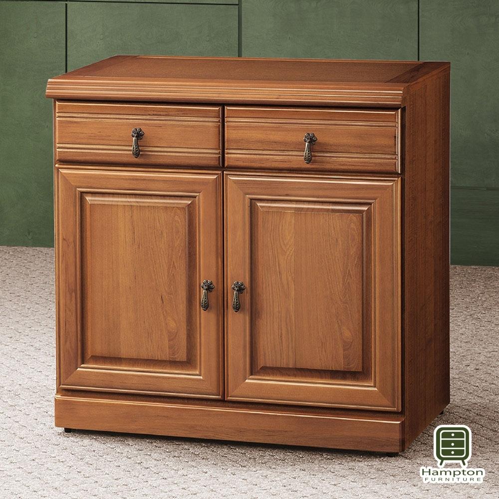 Hampton薩默正樟木2.7尺碗盤櫃-84x45x81cm