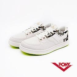 【PONY】ATOP EG系列-迷彩風格滑板鞋款-男-白