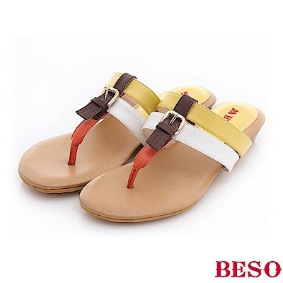 極簡風格-糖果色系輕量舒適涼鞋-黃