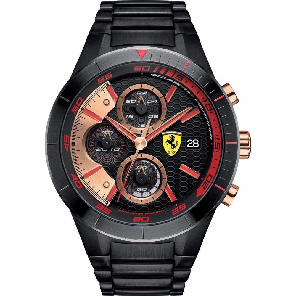 FERRARI 法拉利RedRev Evo速度計時快感運動時尚腕錶/紅/FA0830305