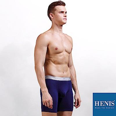 HENIS ENERGY 貼彈壓力長板 防磨機能四角褲 (寶藍)
