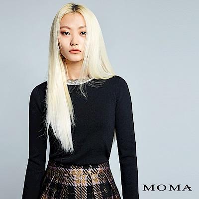 MOMA 珠飾小立領針織上衣