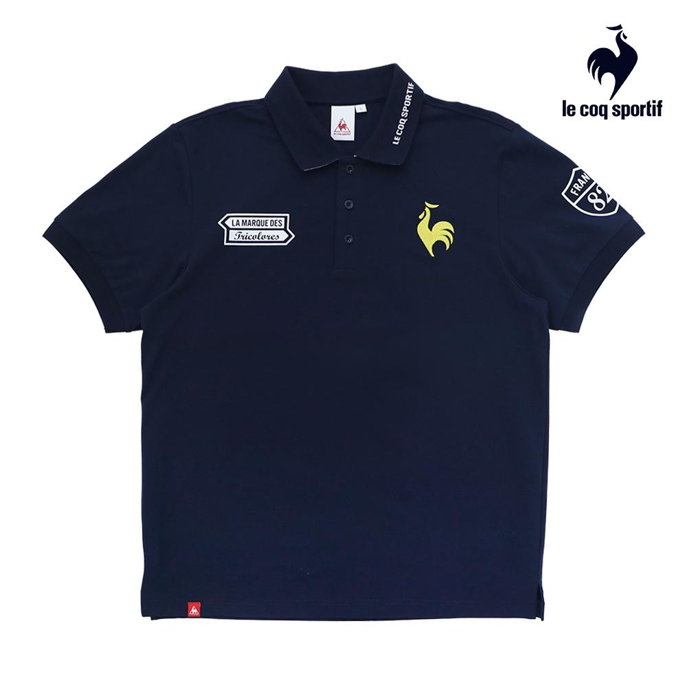 法國公雞牌短袖POLO衫 LON2380639-男-藏青