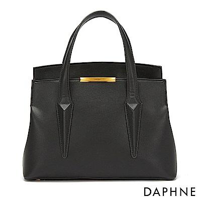 達芙妮DAPHNE-時尚都會風單肩手提兩用包-黑