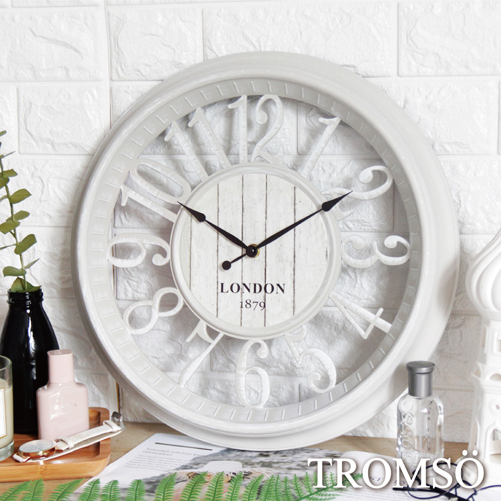 TROMSO 紐約時代靜音時鐘-倫敦縷空數字白