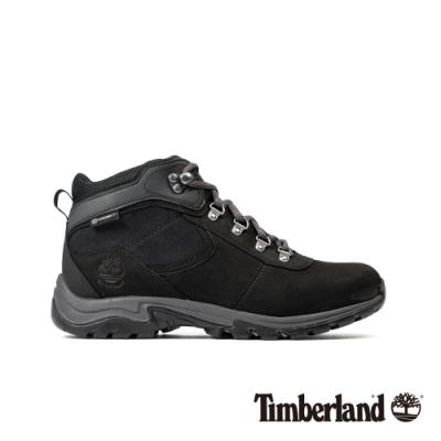 Timberland 女款黑色全粒面革防水厚底中筒徒步鞋|A25N7