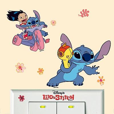 BPID015 星際寶貝系列迷你開關壁貼-史迪奇登場