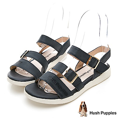 Hush Puppies Shearwater 皮質涼鞋-深藍
