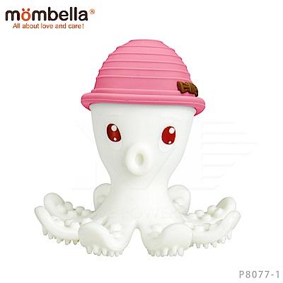 【任選】英國《mombella 》樂咬咬章魚固齒器(粉色)