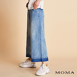 MOMA 刷色水洗牛仔寬褲