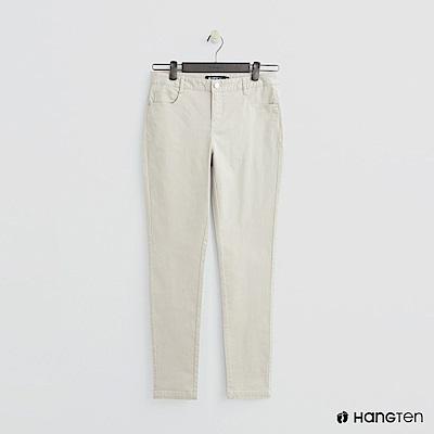 Hang Ten - 女裝 - 微彈合身純色長褲 - 米