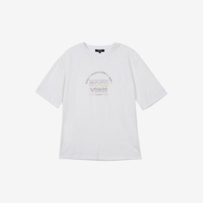 H:CONNECT 韓國品牌 男裝-Good vibes正能量T-shirt-白色