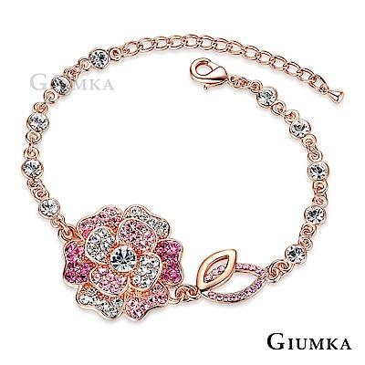 GIUMKA山茶花造型鍍白K手鍊花朵元素(三色任選)