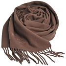 Vivienne Westwood 長版刺繡行星LOGO羊毛圍巾(咖啡色)