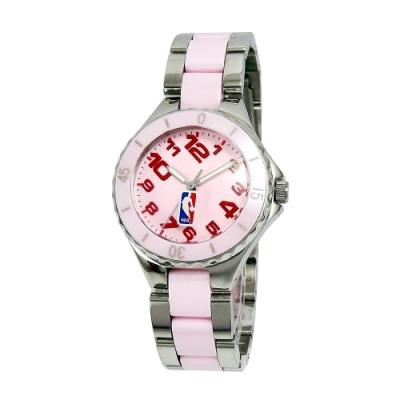 NBA 美國職籃 優雅陶瓷休閒女腕錶-粉紅/32mm