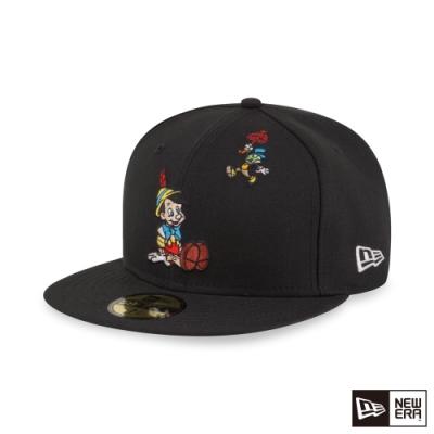 NEW ERA 59FIFTY 5950 迪士尼 木偶皮諾丘 黑 棒球帽