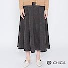 CHICA 絕美復古燈芯絨傘襬中長裙(1色)