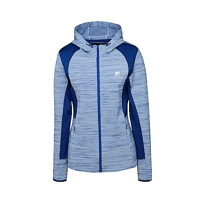 FILA 女款抗UV吸濕排汗針織外套-藍 5JKS-5316-BU
