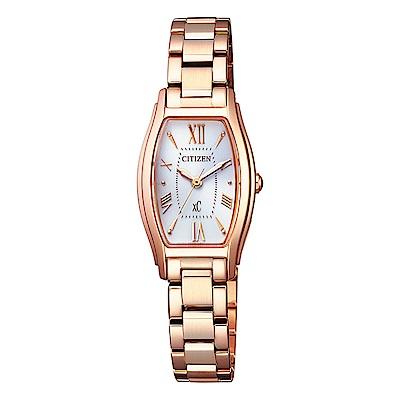 CITIZEN 星辰XC 限量完美電波腕錶-玫瑰金 EW5543-54A