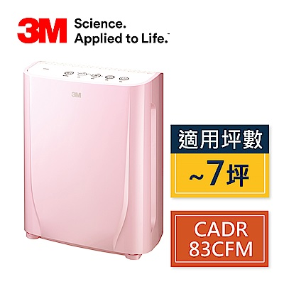 3M寶寶專用6坪空氣清淨機-棉花糖粉(適用3-7坪)