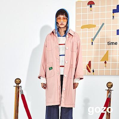 gozo 雙面配色襯衫式風衣外套(二色)