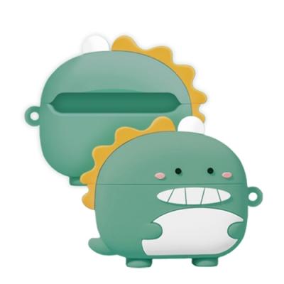 AirPodsPro保護殼 綠豆色 芝麻眼恐龍 保護殼 AirPods Pro 藍牙 耳機 保護套-芝麻眼恐龍-綠豆色*1