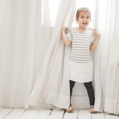小雛菊 MARGUERITE 手感蕾絲裙擺洋裝-灰