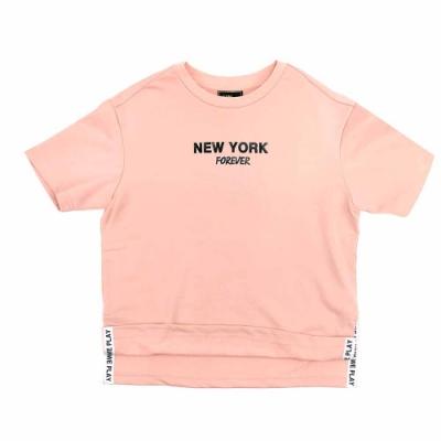 NBA Style C&S NY印刷 韓版 前短後長 短袖T恤