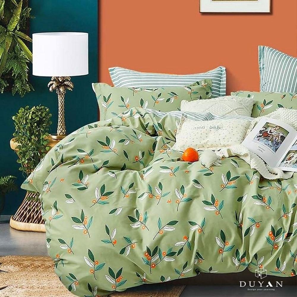 (均一價)DUYAN竹漾-100%精梳純棉-單/雙/大床包被套組-多款任選 台灣製 (森濃小果)