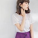 高含棉鏤空設計短袖上衣-OB嚴選