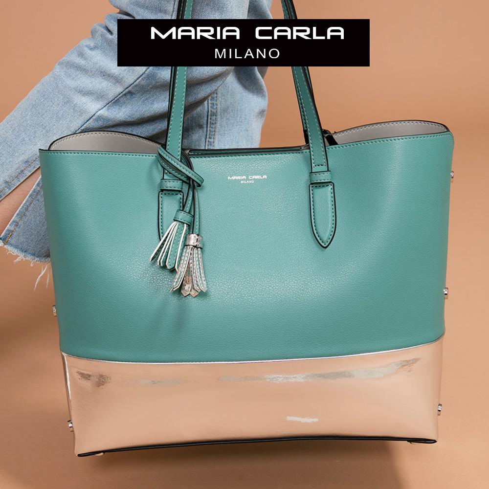 Maria Carla 手提肩背包-牛皮大托特_迷漾輕時尚、清新朝氣系列(特殊色-青瓷綠)