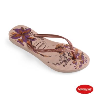 Havaianas 哈瓦仕 拖鞋 夾腳拖 人字拖 花卉 巴西 女鞋 芭蕾粉/金屬粉 4132823-5977W Slim Organic