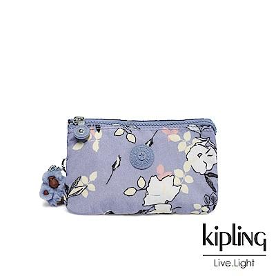 Kipling 柔雅花卉三夾層配件包-CREATIVITY L