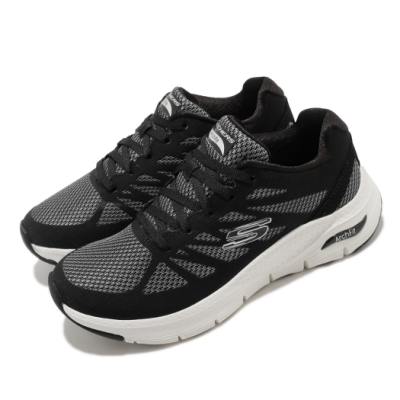 Skechers 休閒鞋 Arch Fit 健走鞋 女鞋 專利鞋墊 足科醫生推薦 回彈 避震 黑 白 149055BKW