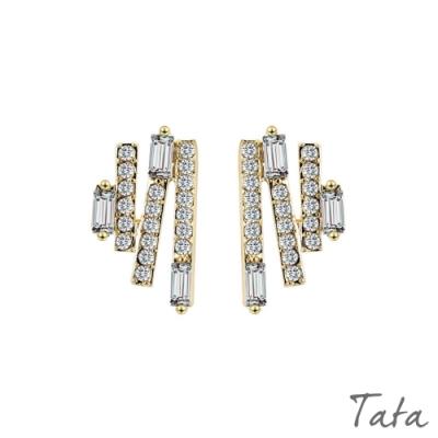 閃電亮鑽耳環 TATA