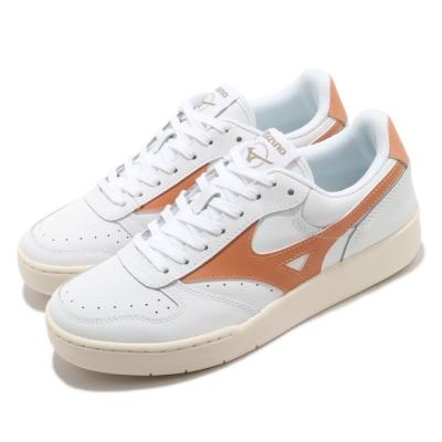Mizuno 休閒鞋 City Wind 復古 低筒 男女鞋 美津濃 基本款 板鞋 百搭 皮革 白 橘 D1GA191764