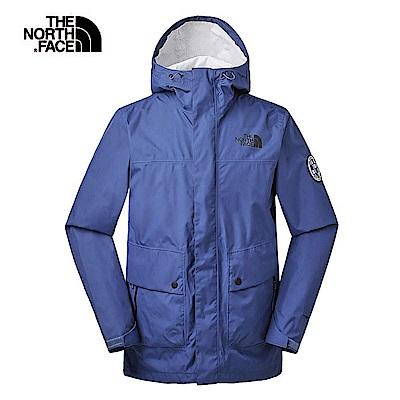 The North Face北面男款藍色防水透氣衝鋒衣|3V4NHDC