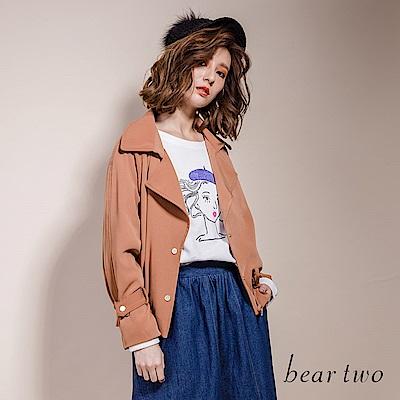 beartwo 法國畫家風藝術網紗拼接造型上衣(二色)