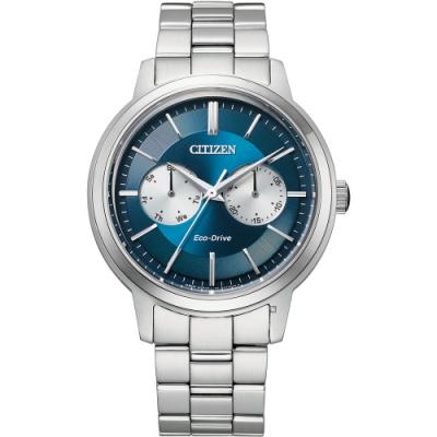 CITIZEN星辰 GENTS系列光動能雙眼時尚腕錶 BU4030-91L/39.5mm