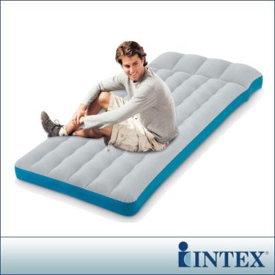 INTEX 單人野營充氣床墊/露營睡墊-寬72cm(灰藍色)(67998)