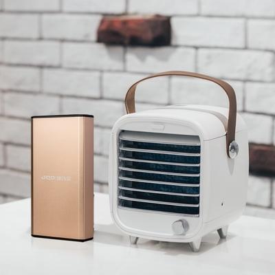 【Roommi】迷你空調冰冷扇+汽車急救電源