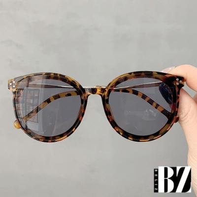 BeLiz 點點鉚釘 時尚中大兒童太陽眼鏡 豹紋棕
