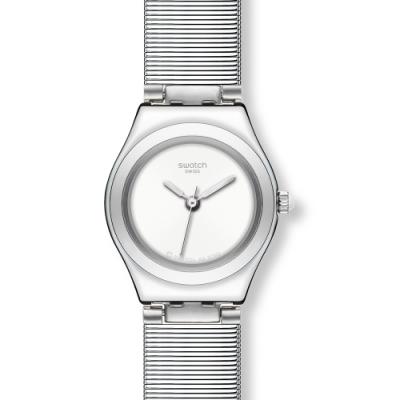 Swatch Irony 金屬Lady系列手錶 WHITE PILL -25mm