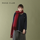 【MOSS CLUB】拼接蕾絲造型-上衣(藍色)